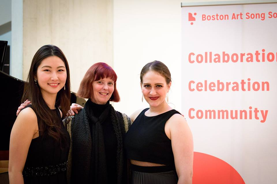 Ann with Seoyon Macdonald and Julianna Hall, after the performance of Hall's  A World Turned Upside Down  through  The Boston Art Song Society  on January 11, 2018.