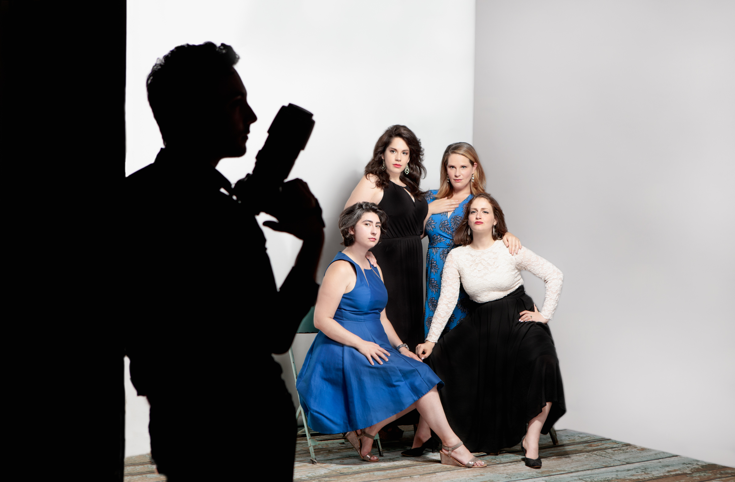 Ann Fogler with the Boston Opera Collaborative Colleagues at  Don Giovanni  marketing photoshoot.   August 2018    Photo credit: Dan Busler