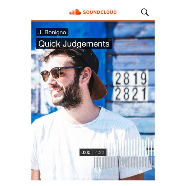 Stoked to share 'Quick Judgements', first track off my upcoming album Life Gets In The Way!! Give it a spin at https://m.soundcloud.com/jbonigno clickable link in my profile 😉😎🙌😏 shoutouts to @plain_race for the mixing wizardry @thetrillmervg on the drums @ryanfitzpatrick89 for the banj and @jeremy_key for the djembe!!! #LifeGetsInTheWay #JBonignocominatcha