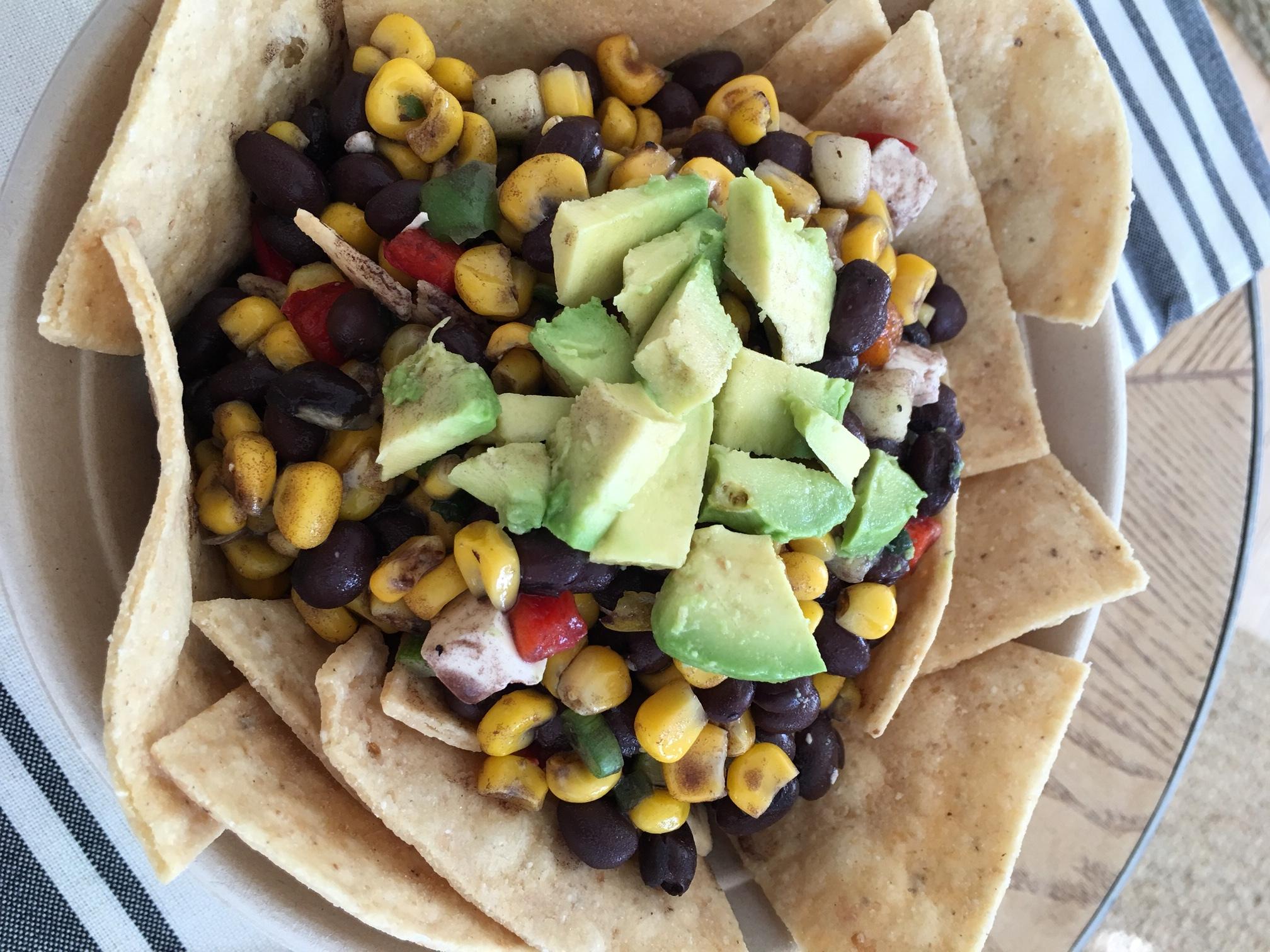black bean nachos