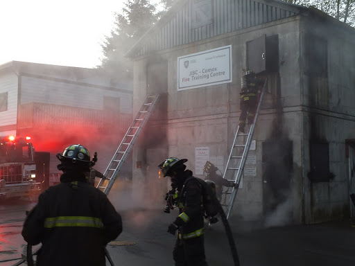 Firefighters experience real fires in our two-storeyburn building