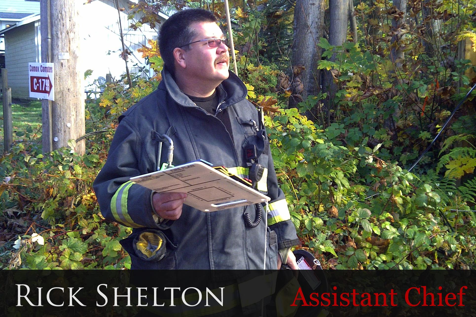 Comox Assistant Chief Rick Shelton