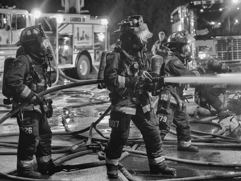 Always lots going on at the Comox Fire Training Centre