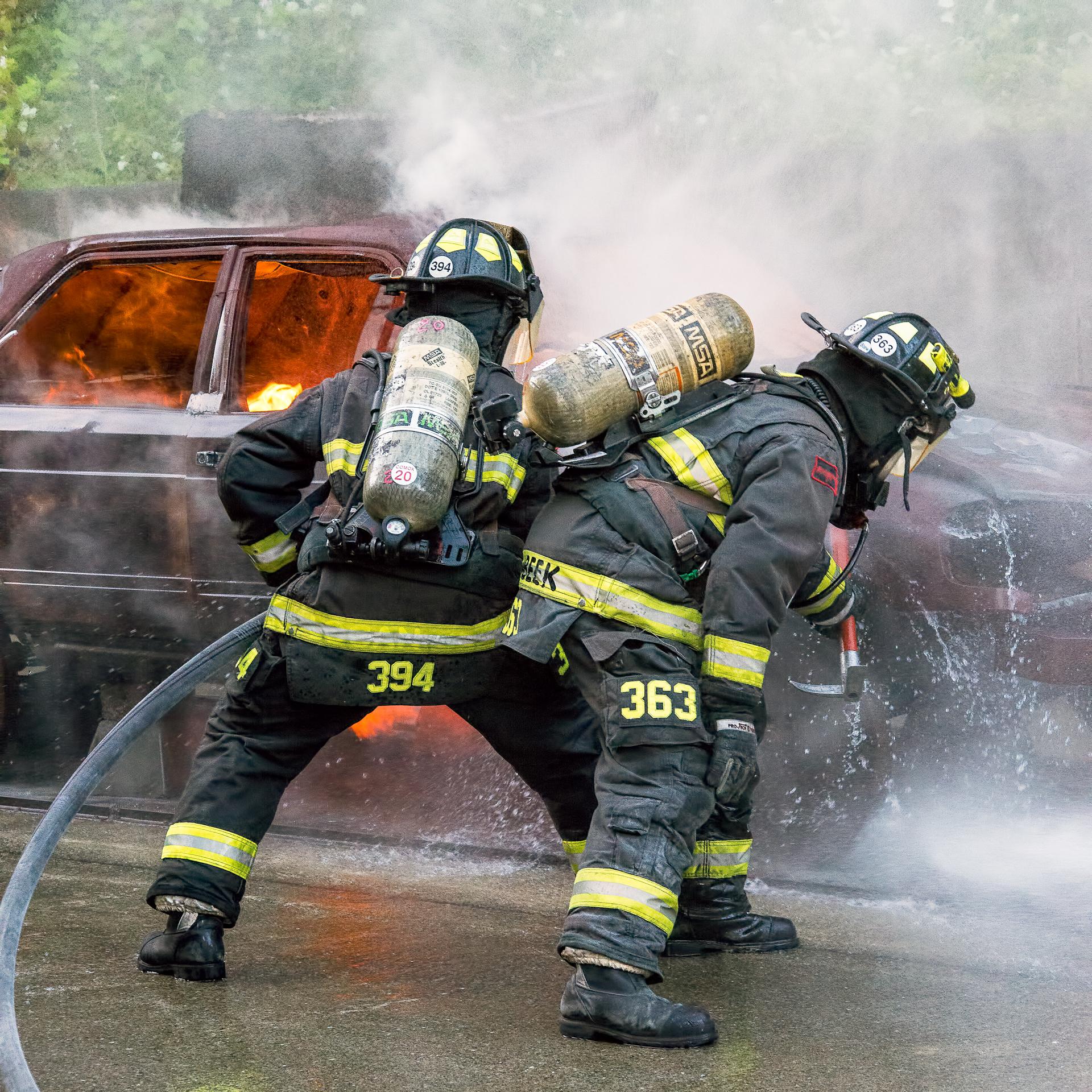 Car fire training prop