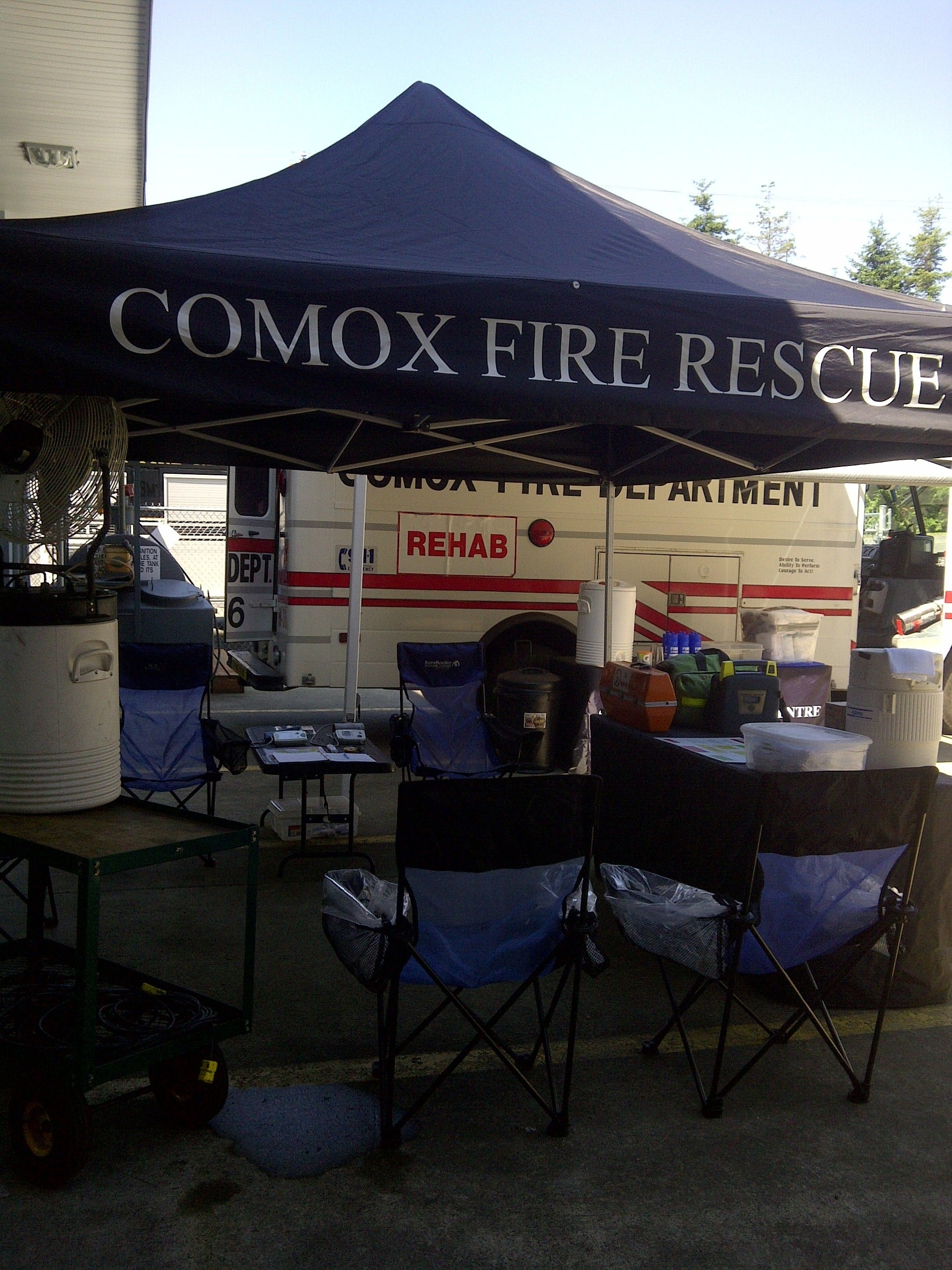 Rehab to keep our firefighters safe and hydrated
