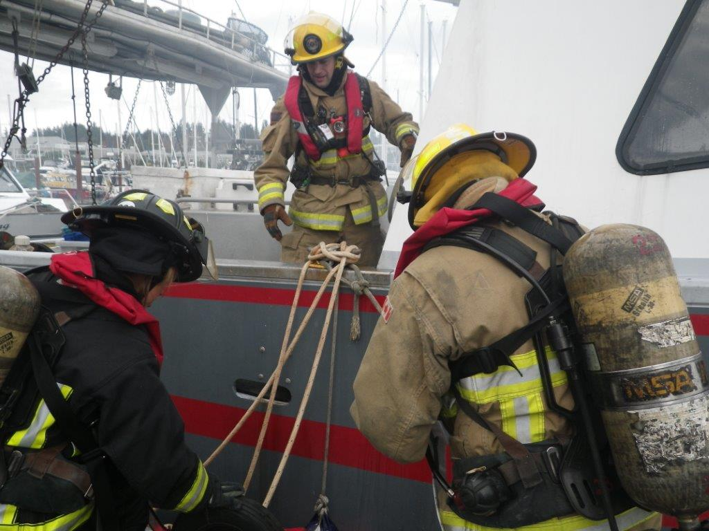 Marine  firefighting has its difficulties