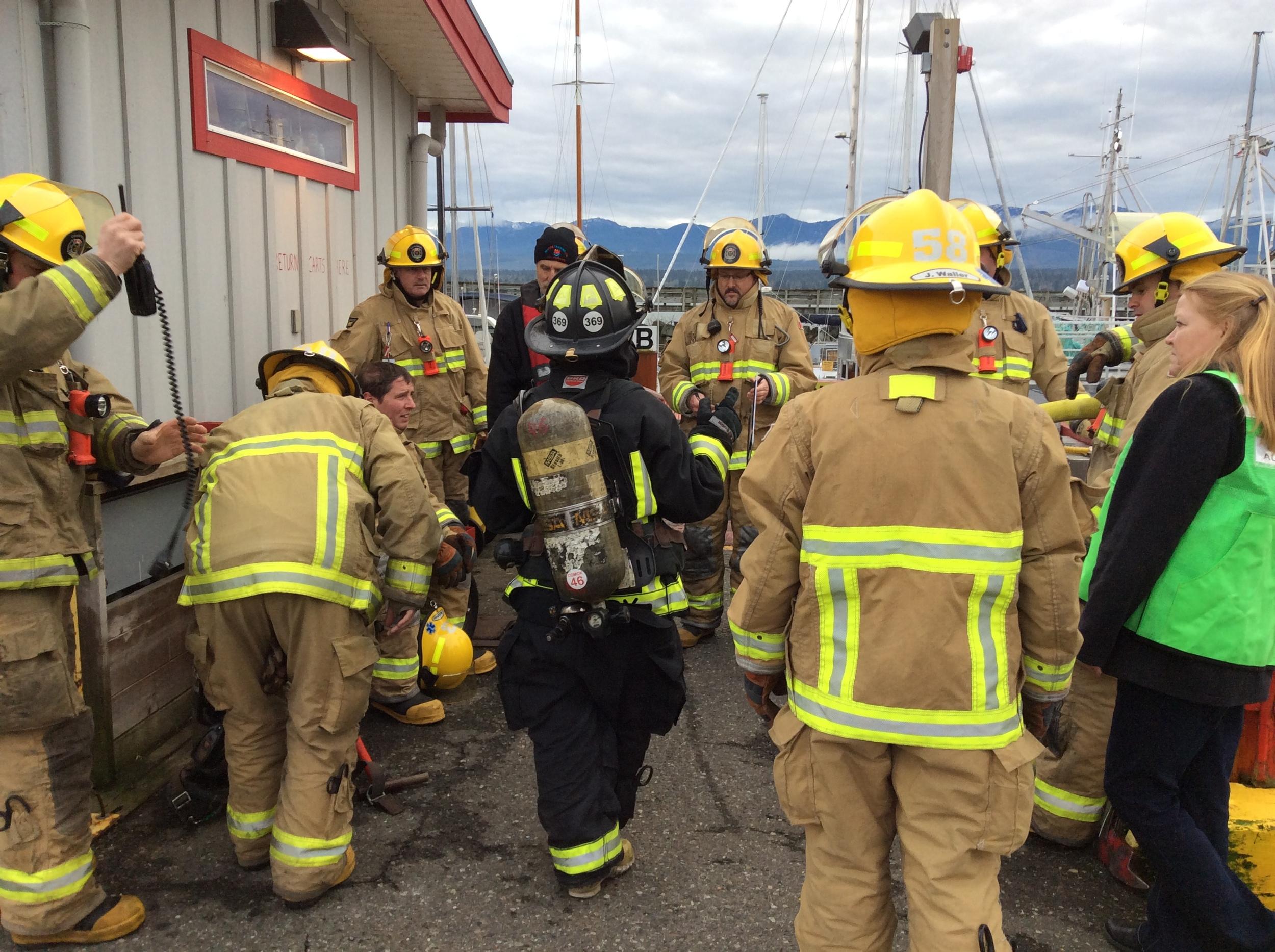 Marine firefighting training