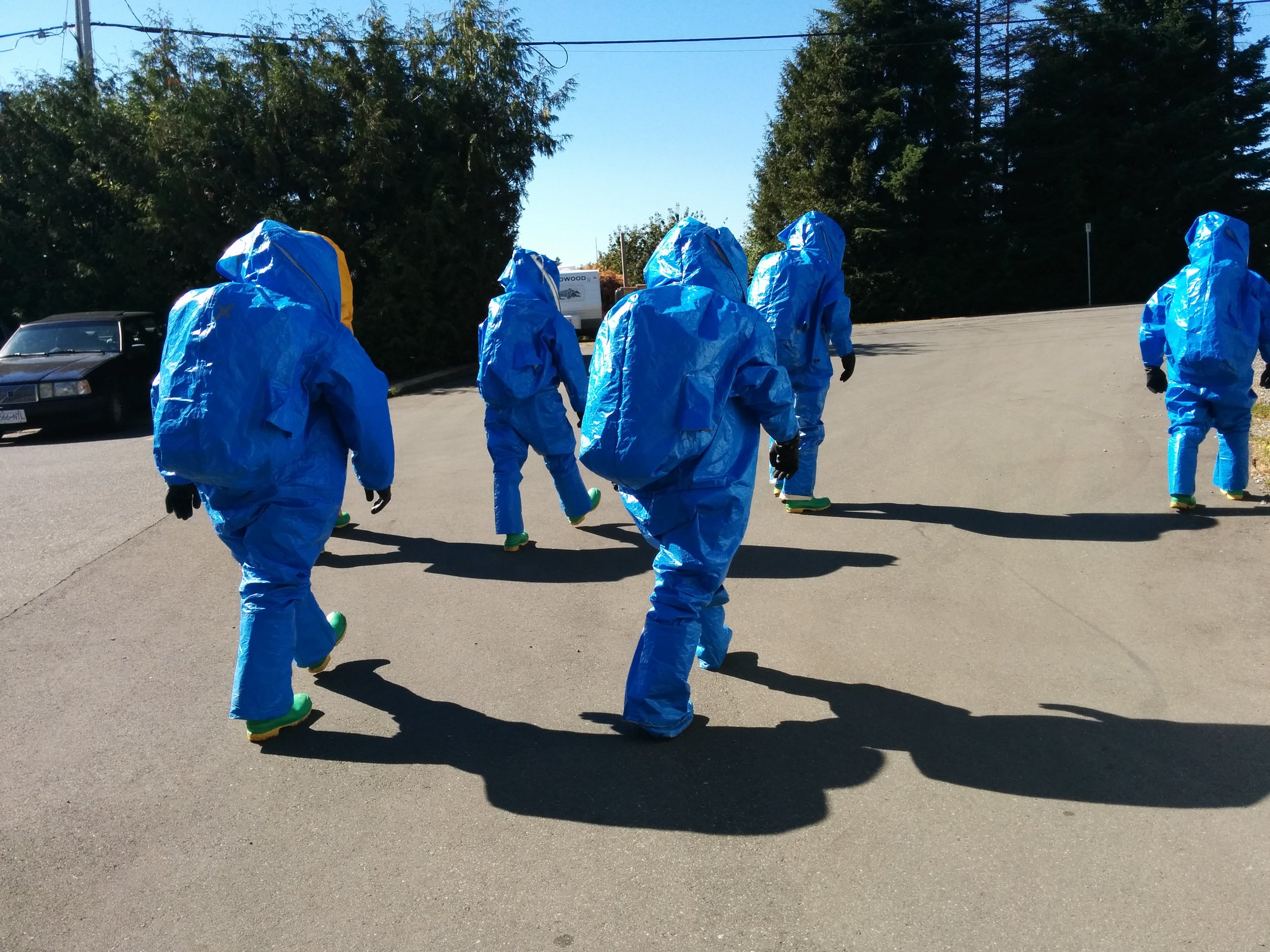 Feeling the heat in fully encapsulated HAZMAT suits