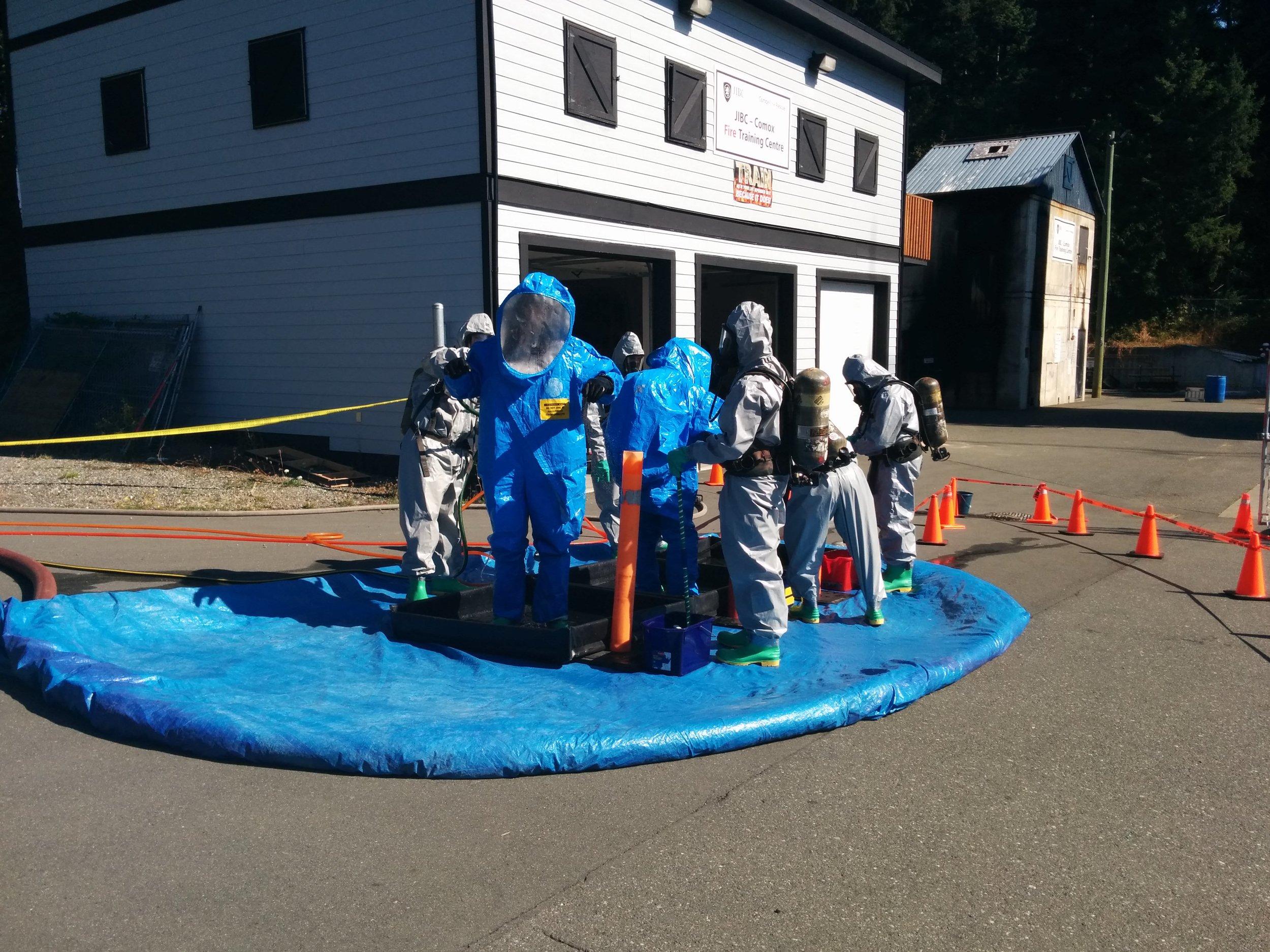 Comox Fire Training Centre offers HAZMAT Awareness and Operations courses