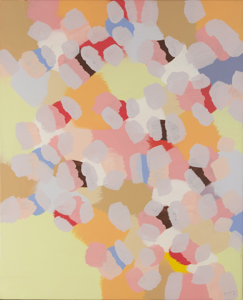 """SANS TITRE  Acrylique/Toile 32x26"""" // 81,28x66,04 cm 1984"""