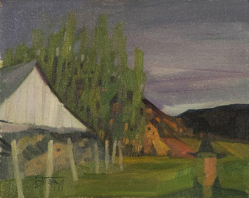 """La grange   àGédéon  Oil/Canvas 8x10"""" // 20,32x25,4 cm 1979"""