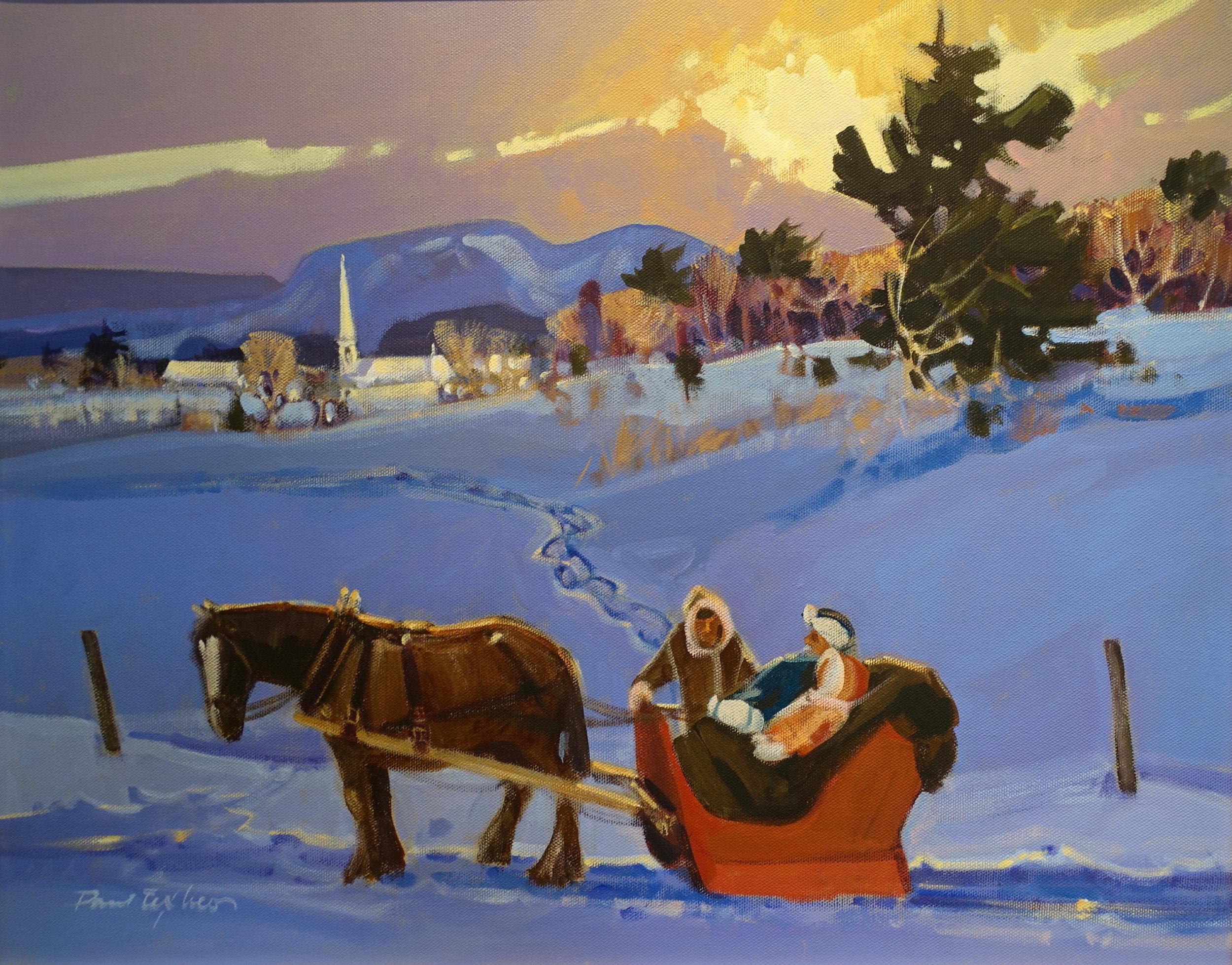 """LA JASETTE  Oil/Canvas 16x20"""" // 40,64x50,80 cm"""