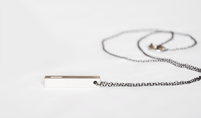 Wear it All Day, Everyday  The Bar necklace is designed to fit into your lifestyle, not the other way around. Wear it all day, everyday. The illuminated brushed steel is a beautiful object that you wear and that becomes an expression of you.