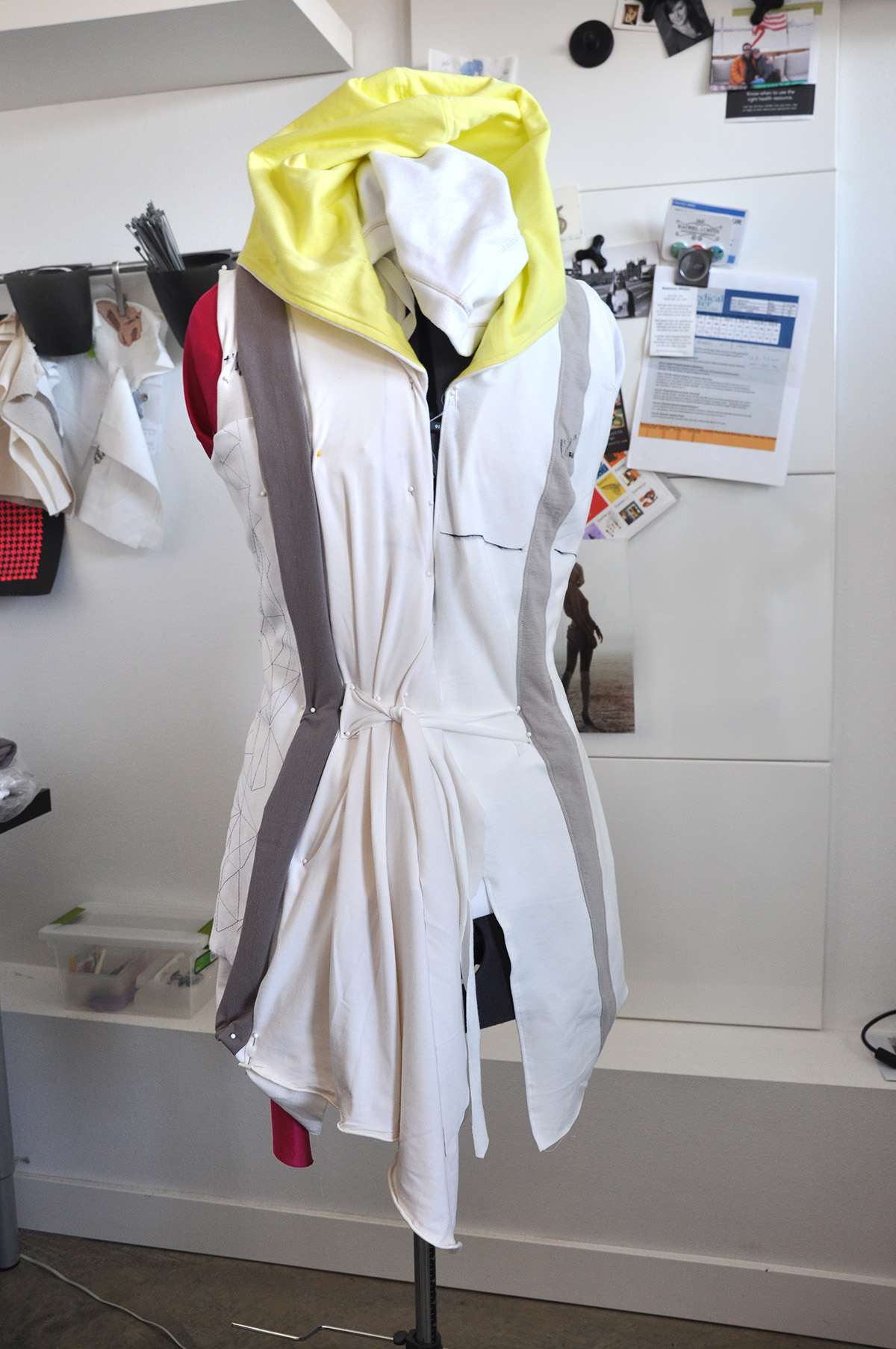 Draping and modifying the pattern