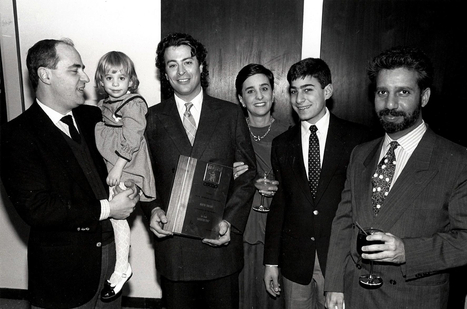 Receiving the ASCAP Deems Taylor Award, 1987