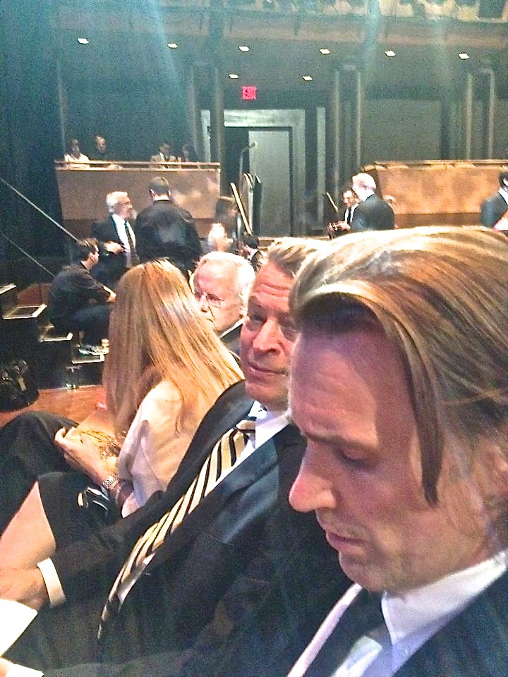 At 2012 News and Documentary Emmy Awards. Richard Lowe in foreground, Martin Torgoff, Bill Moyers