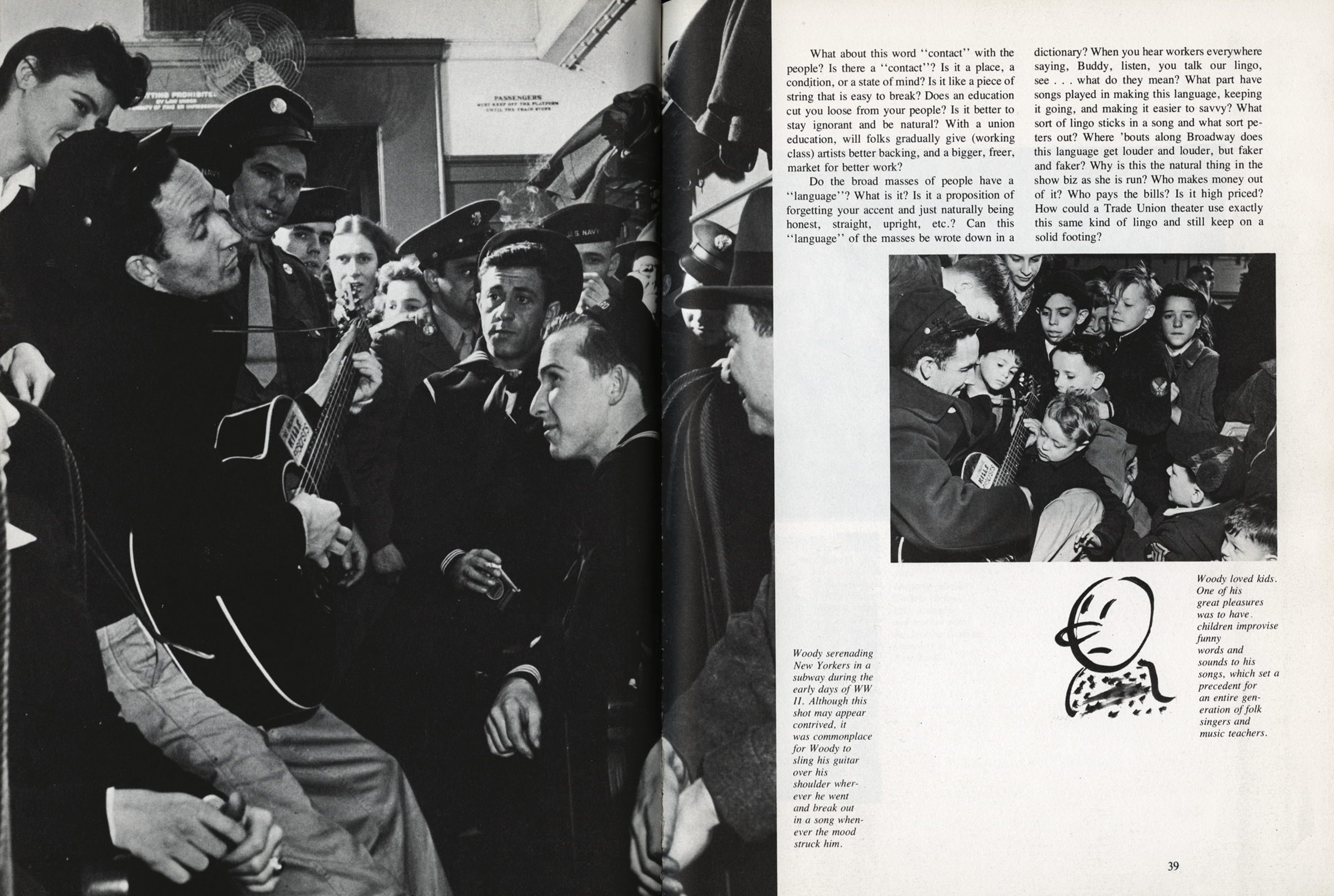 A spread from Woody Guthrie's songbook.