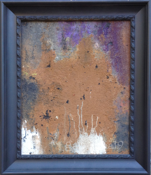 "Sparkle in the Dark  16x20"" Mixed Media on Canvas (Framed) SOLD"