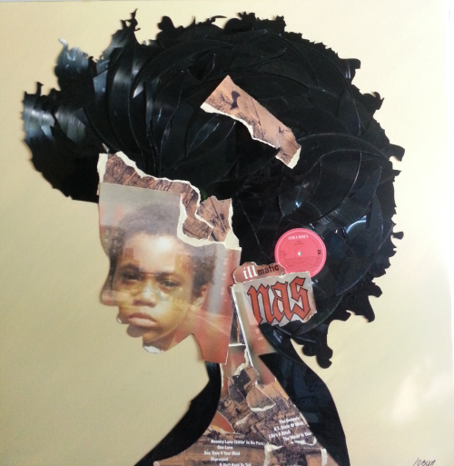"Miles Davis  36""x36"" Vinyl, Paper on Canvas $2200"