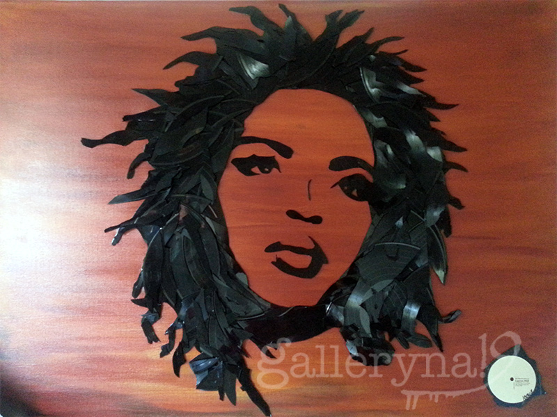 """Lauryn Hill  48""""x36"""" Vinyl on Canvas $3200"""