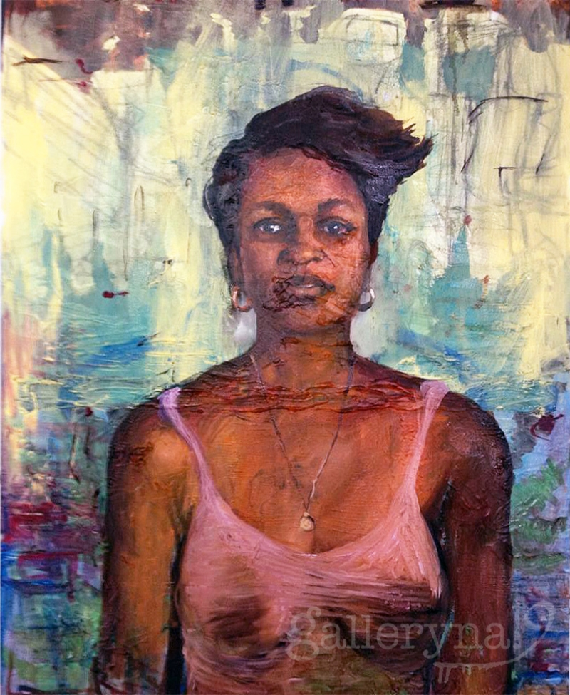 Mona Reisha  Oil on Canvas by Ferrari Sheppard SOLD