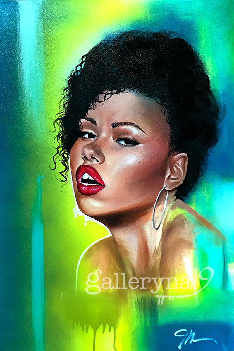 Elle  12x18 Fine Art Canvas Print (Stretched) #3 of 10 by James Nelson $125