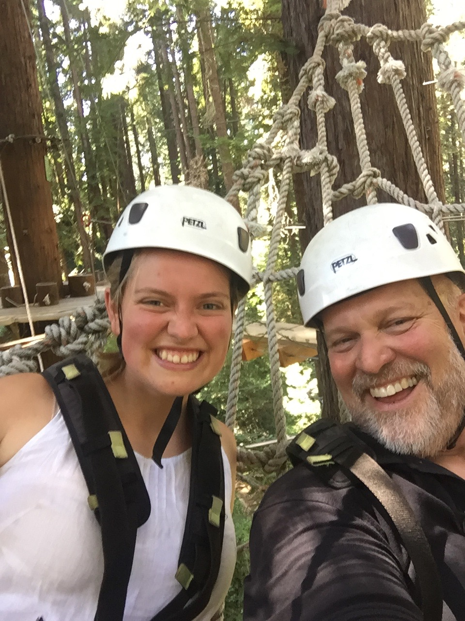 Brigitta and I on the high ropes course!