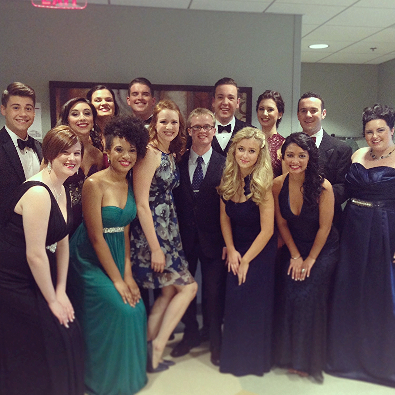 """Shannon Christie and me with the 2014 Great American Songbook All-Stars from the Great American Songbook Competition"""