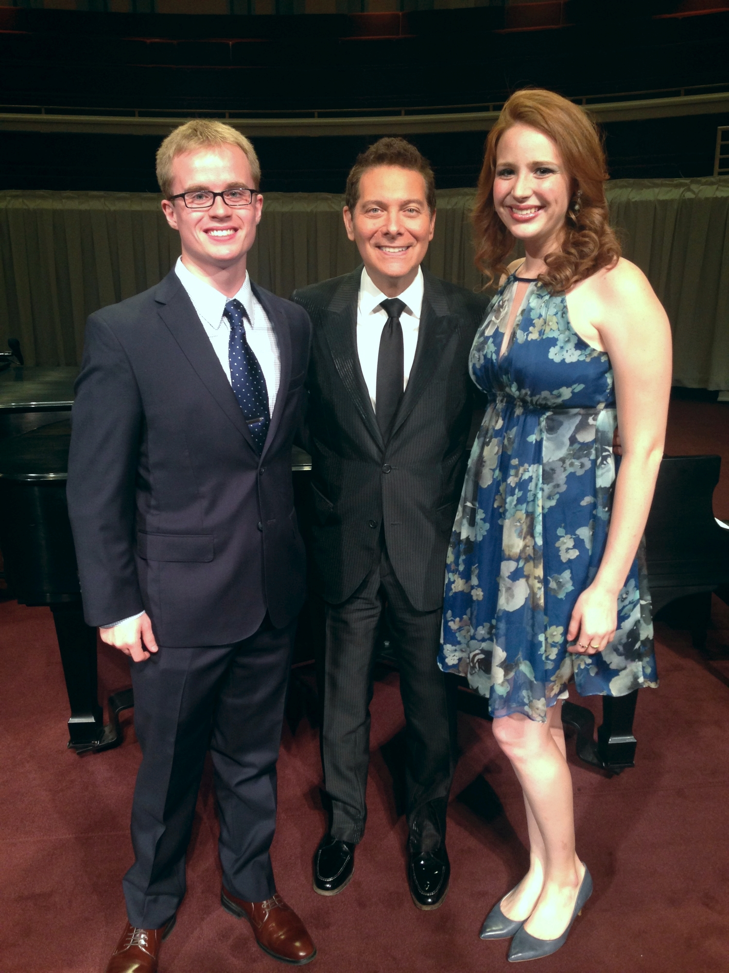 """Shannon Christie and me with MIchael Feinstein"""