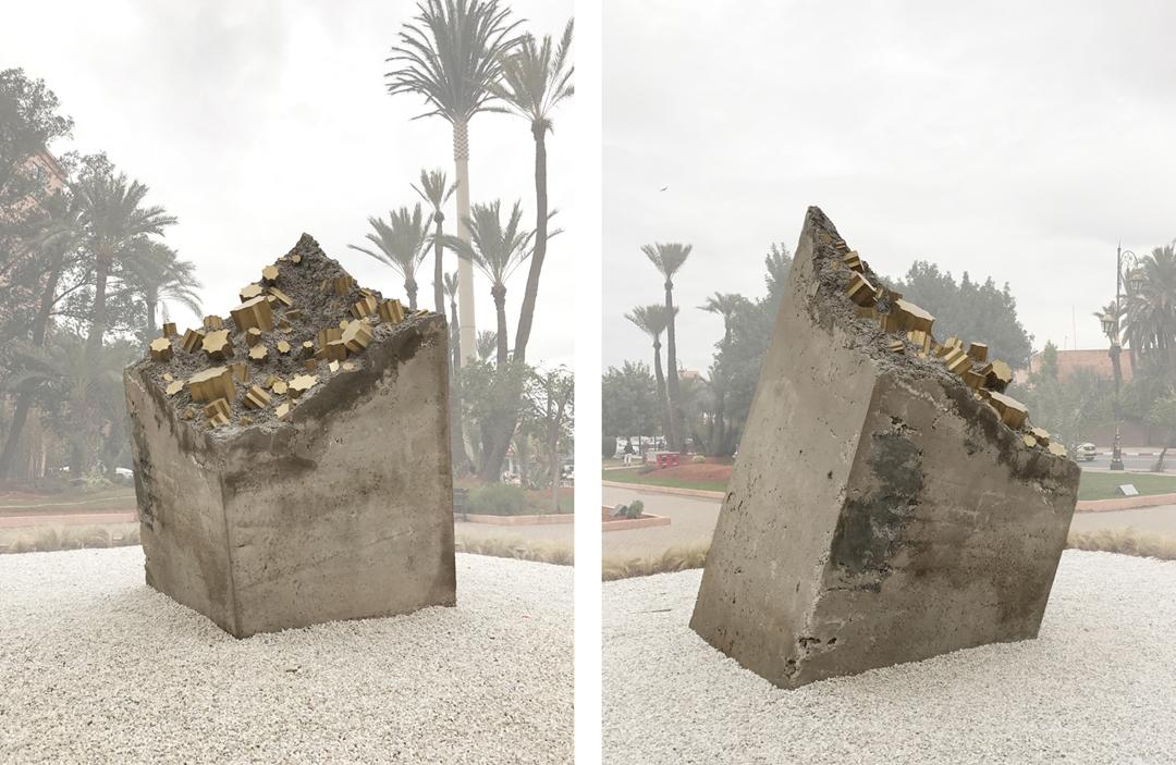 Jardin des Arts, Parc de Scuplture, Marrakech - Concrete and painted metal - 150 cm x 150 cm x 250 cm - 2017