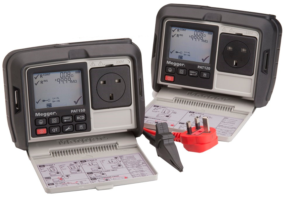 New Megger PAT120 and PAT150 Test Instruments