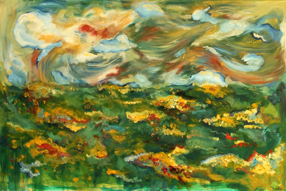 To Grammy, With Love  Oil on Canvas  36 x 18  Sold