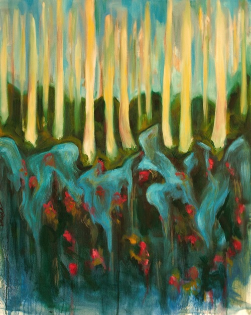 Cypress Gardens    Oil on Canvas  18 x 30   Sold