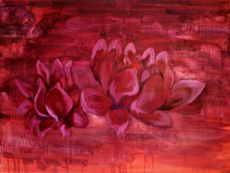 Study of a Lily Pt. 1    Oil on Canvas  48 x 36  Sold