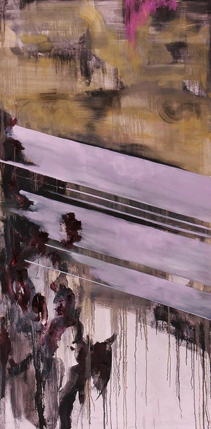 Sweet-Tempered Nothing    Oil and Charcoal on Canvas  36 x 72  Sold