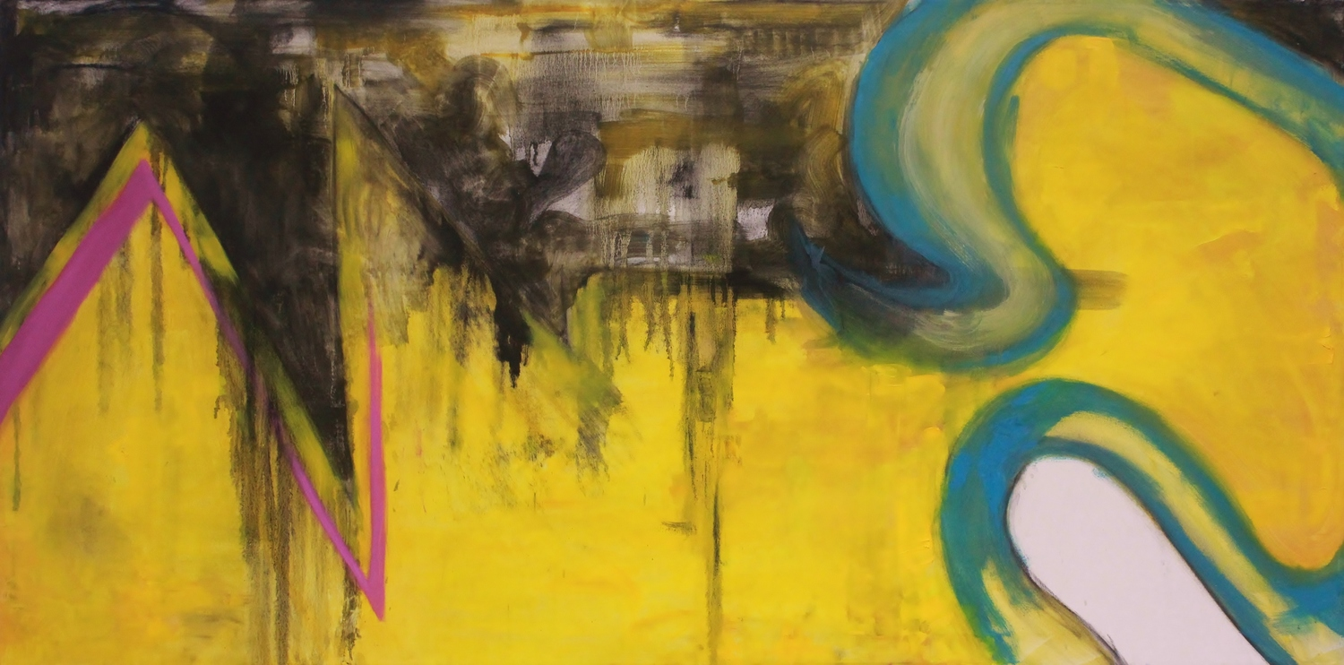 The Social Phenomenon    Oil and Charcoal on Canvas  72 x 36  Sold