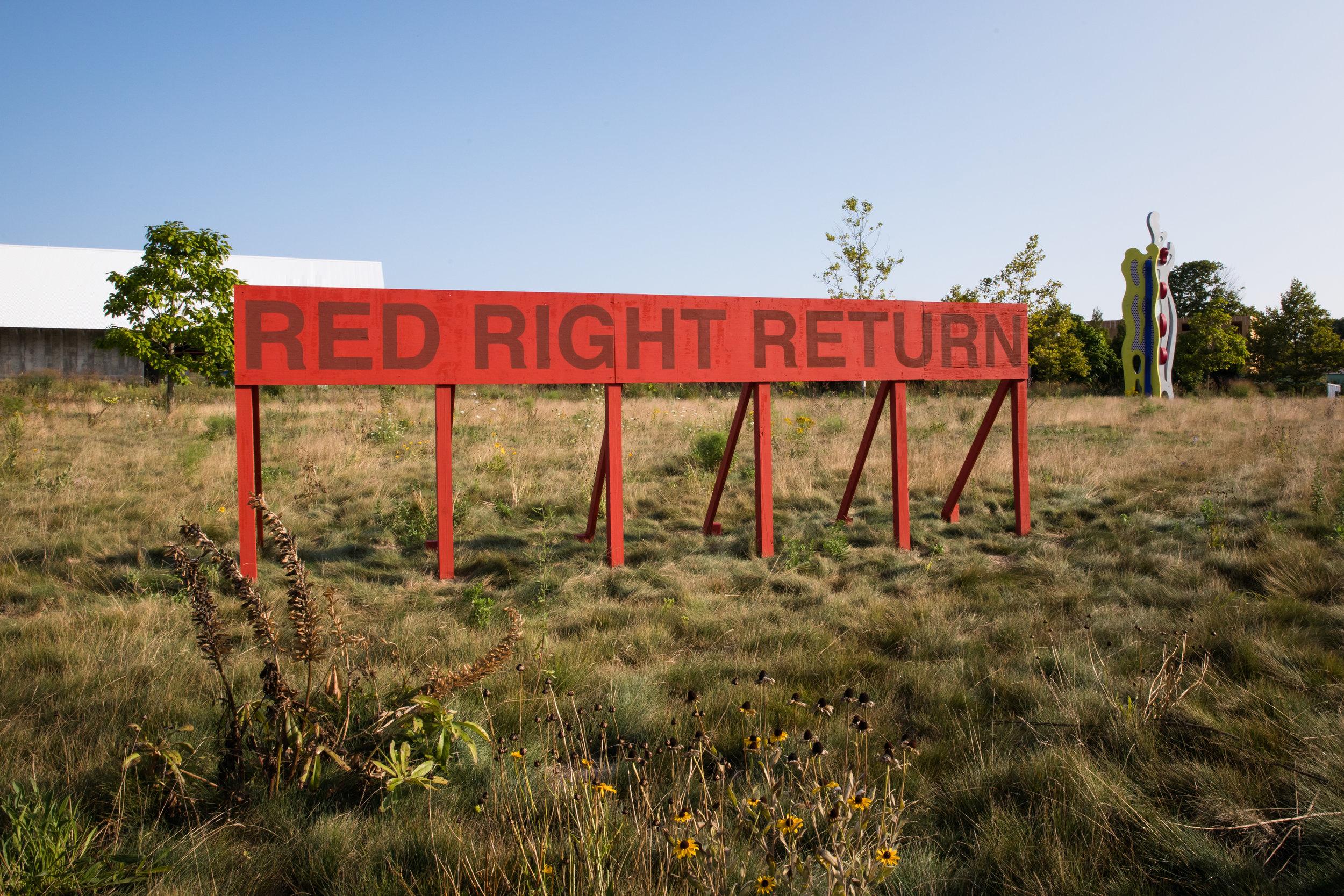 Red Right Return,  2017 ,  Auto Body.  Photo by Jenny Gorman