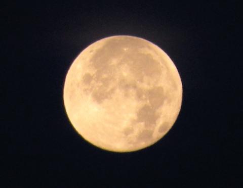 Wyoming Big Growth Moon (NPS photo)