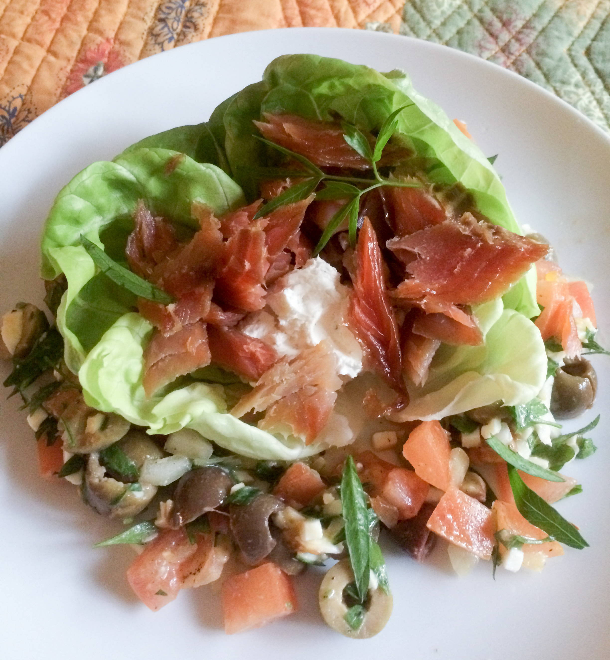 Smoked Trout Salad with Horseradish Cream