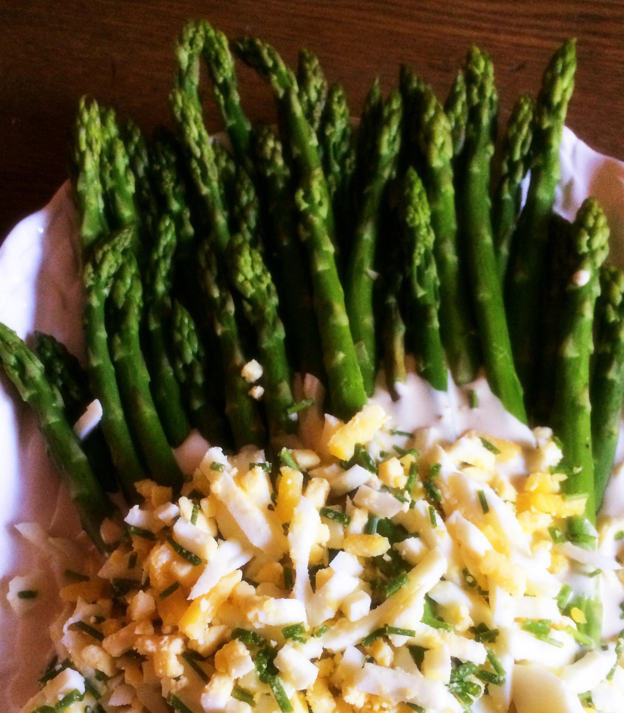 Asparagus with Mustard Sauce