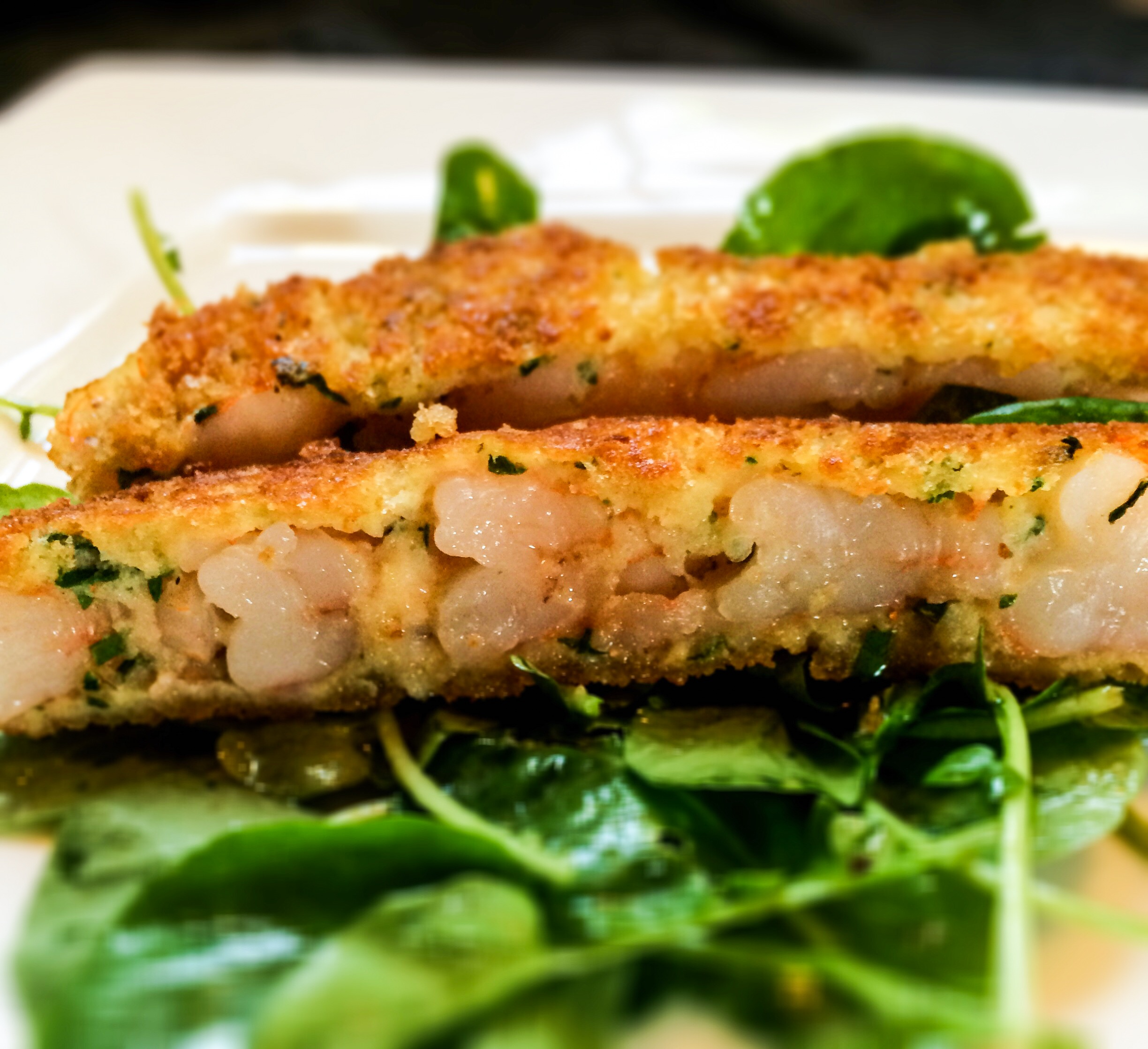 Shrimp Pane on Watercress