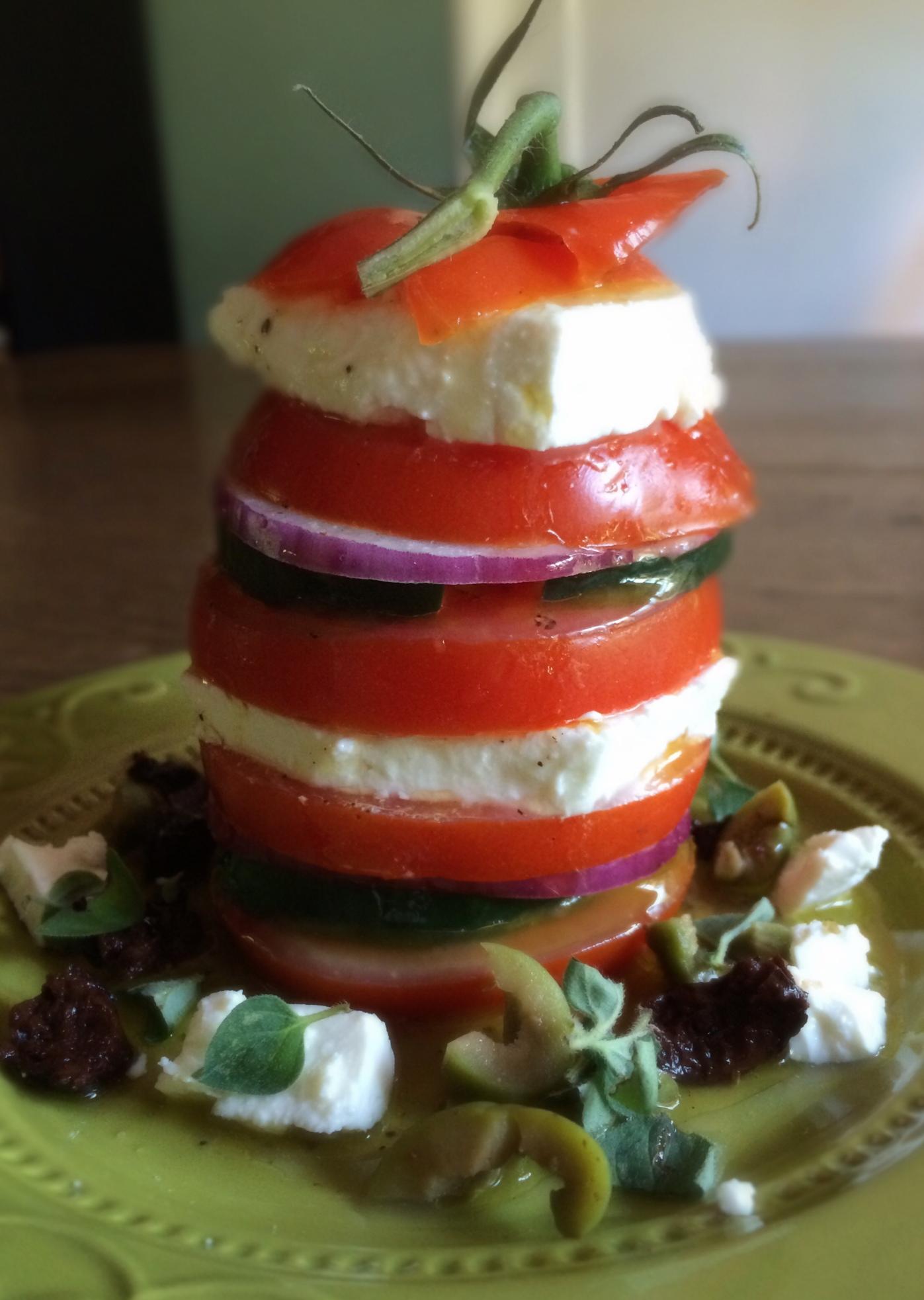 Tall Greek Tomato Salad