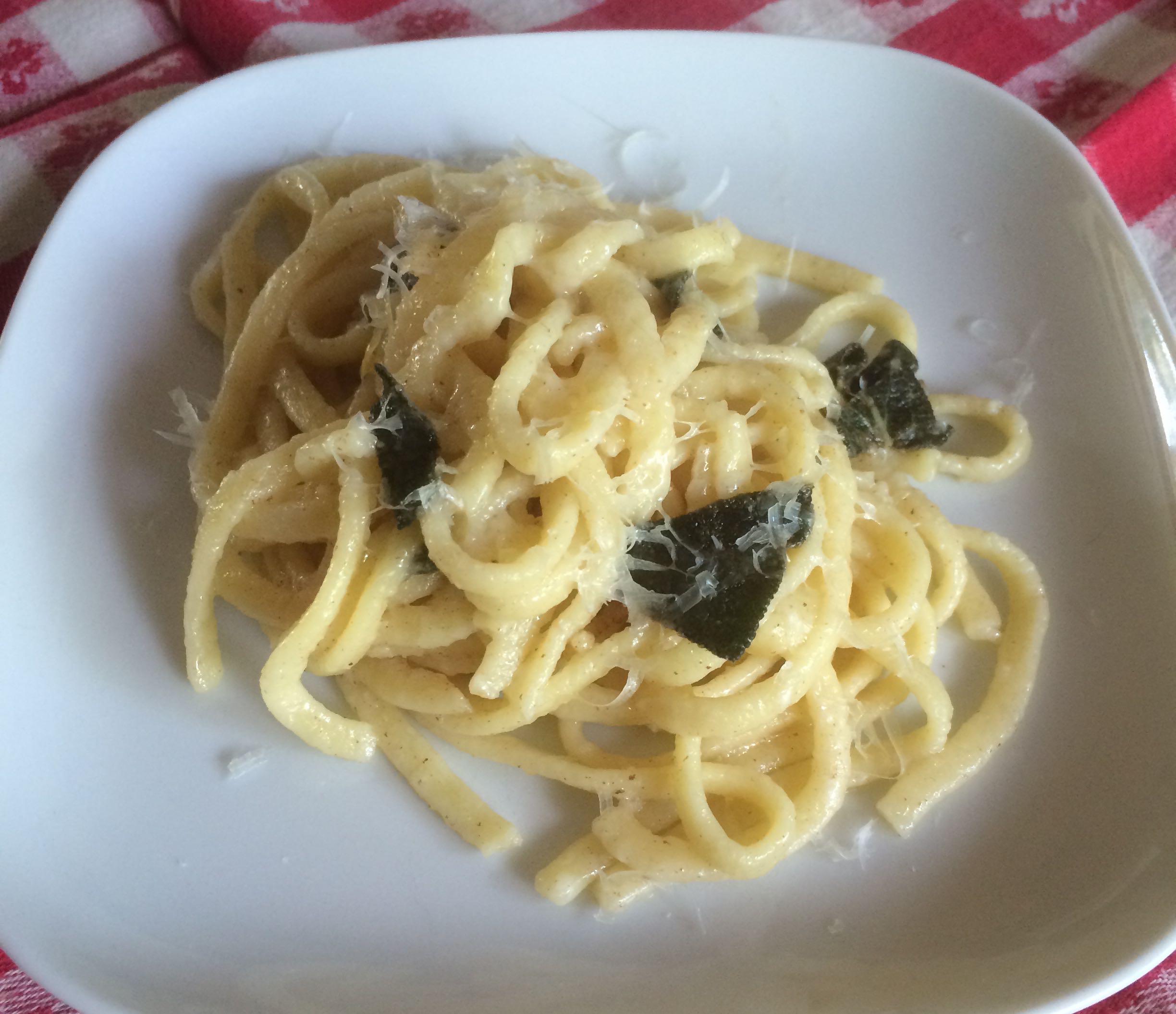 Fettuccini with Butter & Sage Sauce