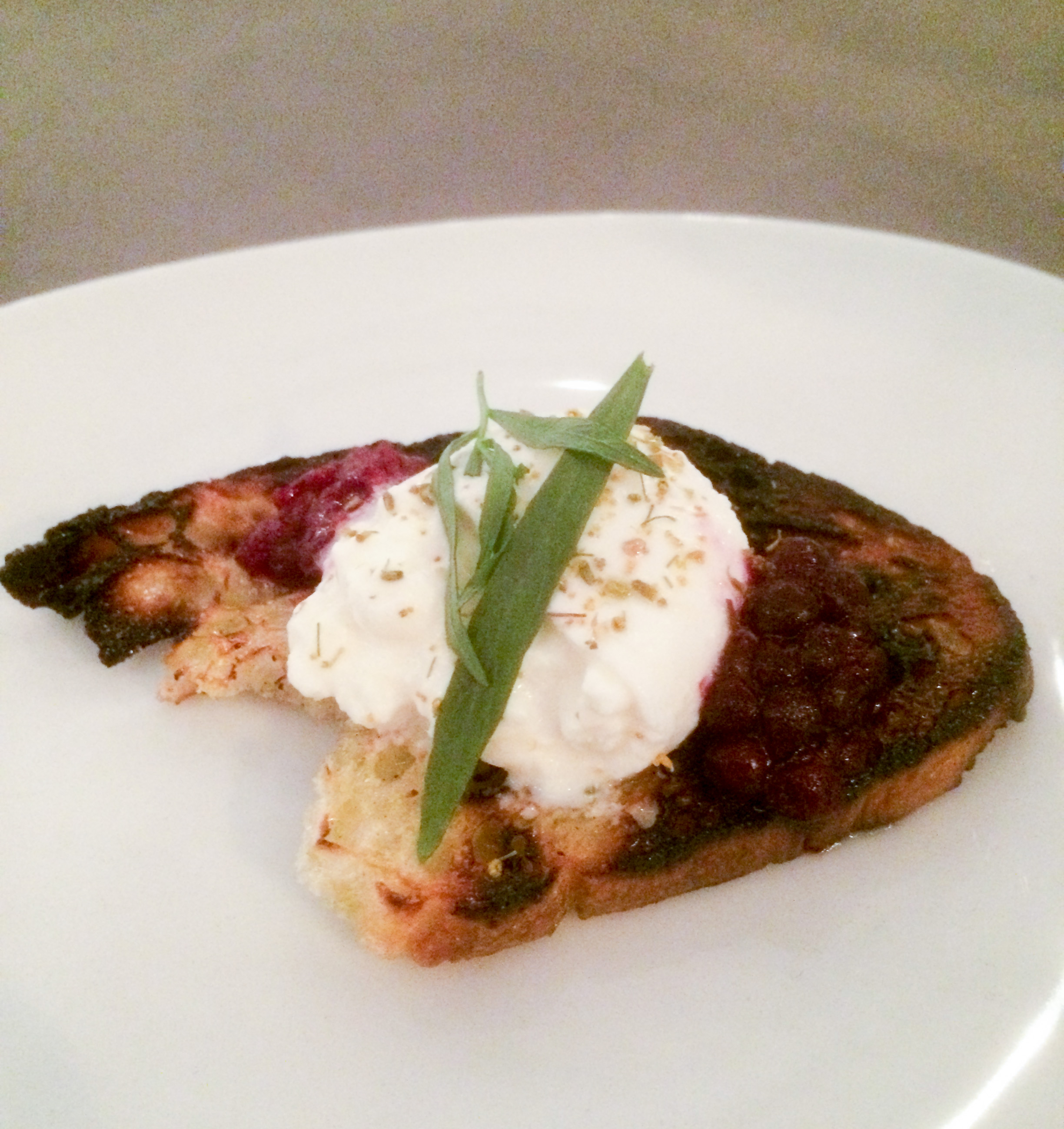 Charred Bread with Burrata, Local Berries + Fennel Pollen