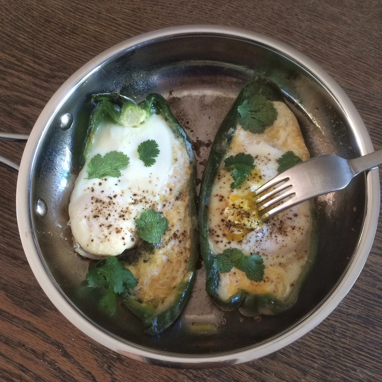 Eggs in Pepper Boats
