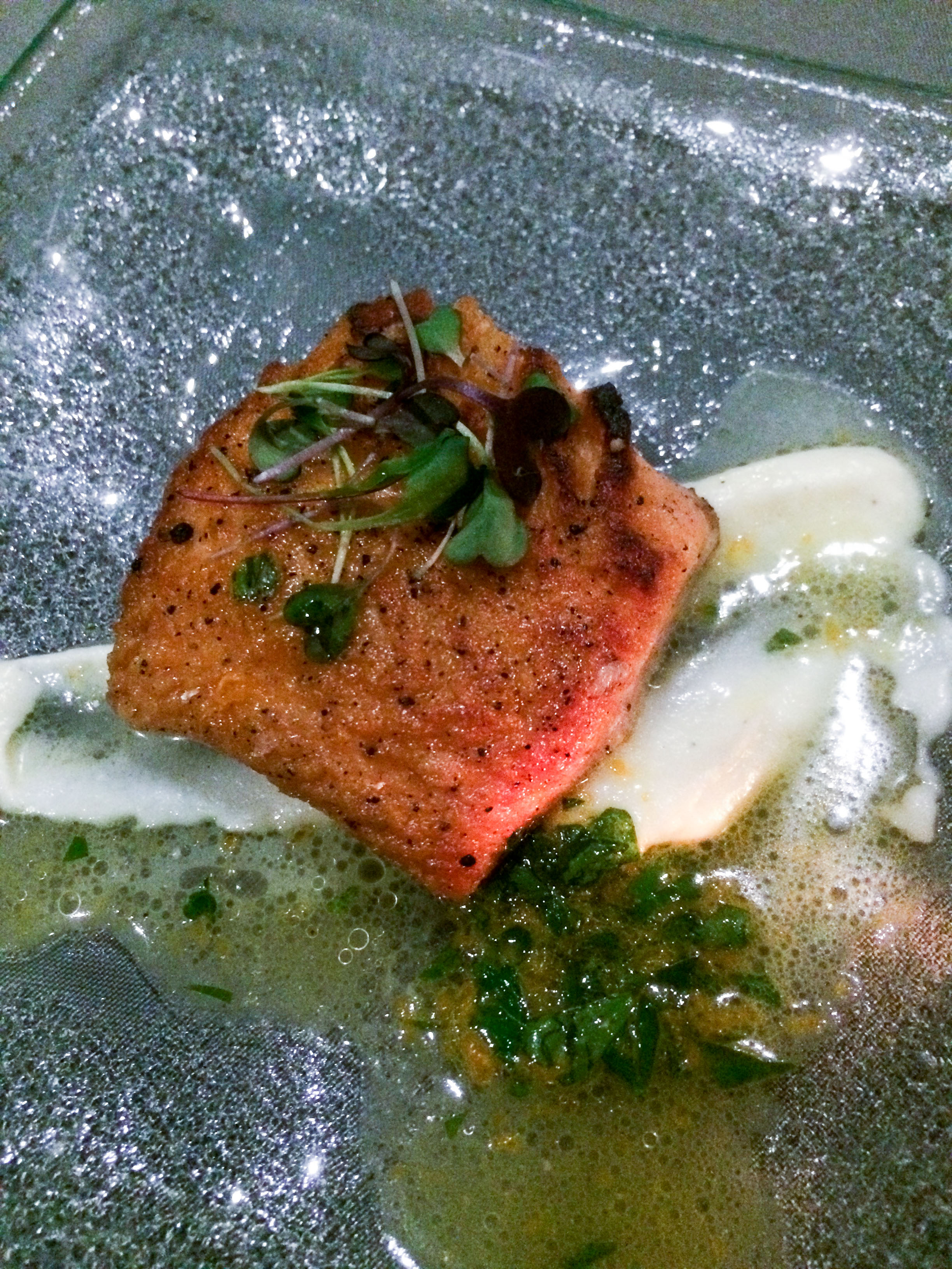Pan Seared Steelhead, Parsnip Puree