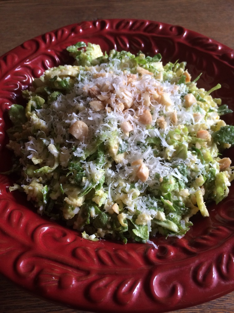 Shaved Brussels Sprouts w/Marcona Almonds & Pecorino