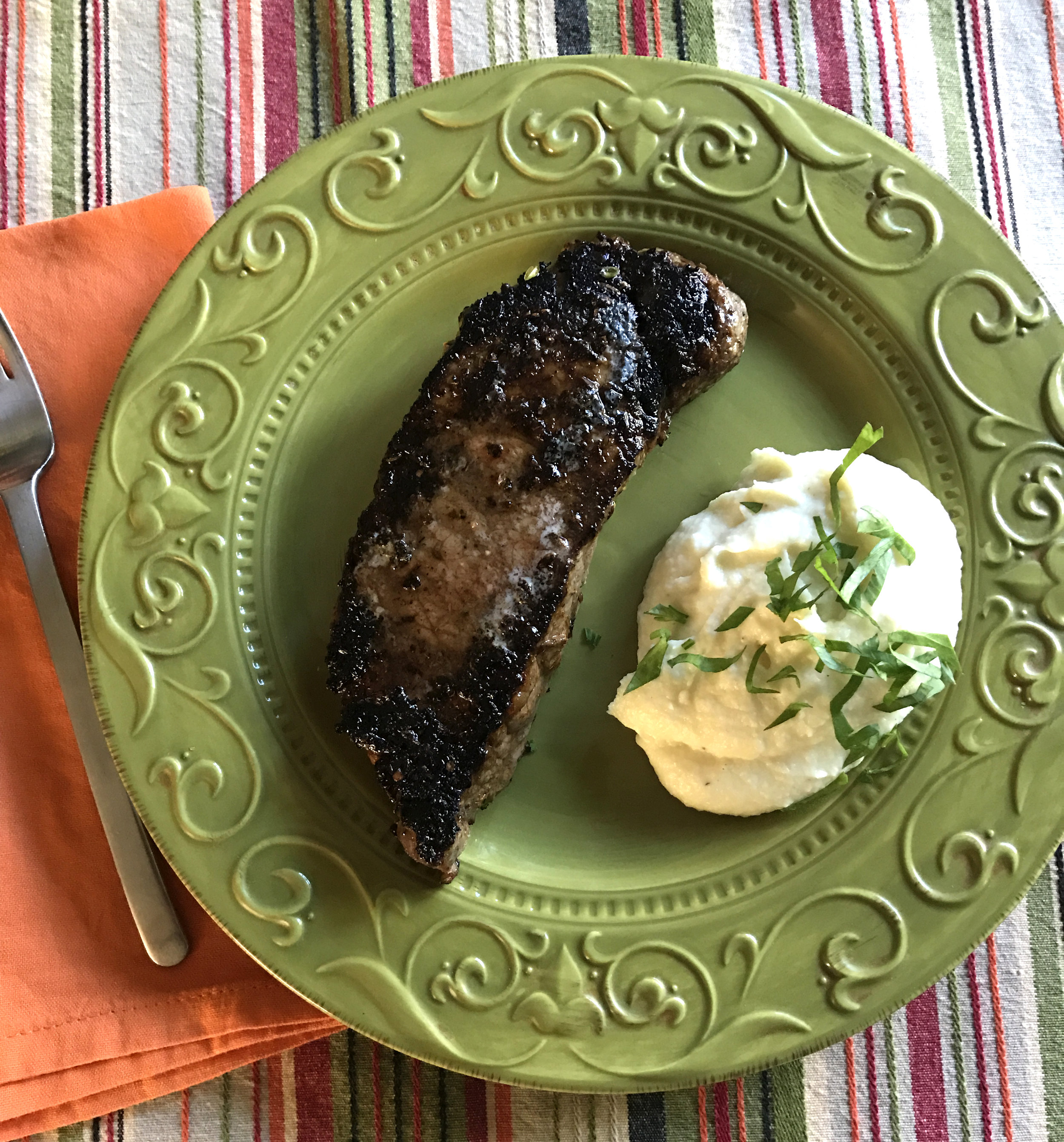 New York Steak and Parsnip Puree