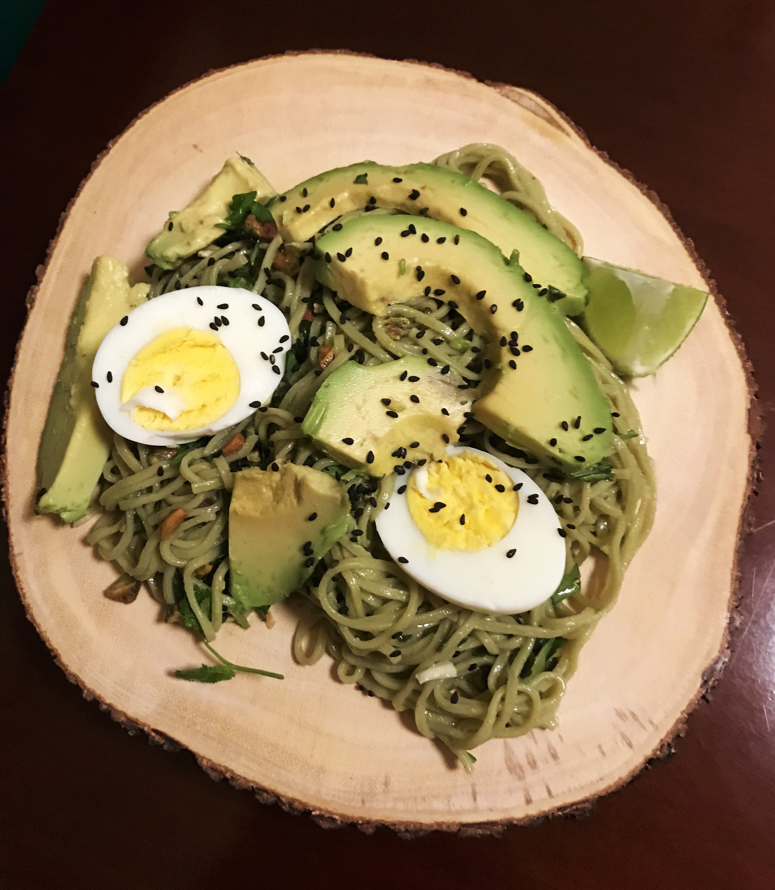 Green Tea Noodles with Lime & Cardamom Salsa