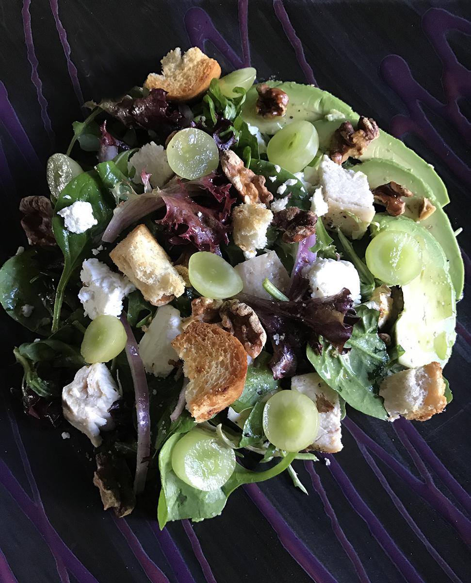 Grape, Avocado & Arugula Salad with Honey Vinaigrette